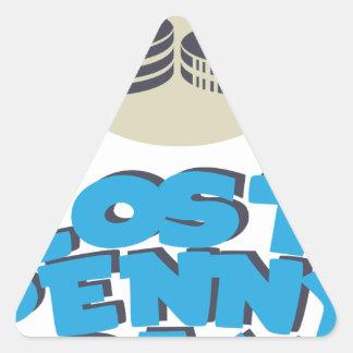 12 février - jour perdu de penny - jour sticker triangulaire