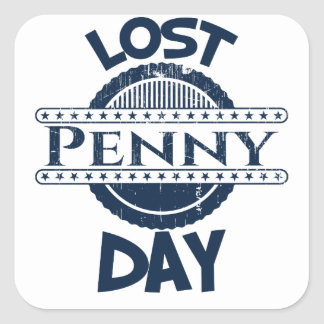 12 février - jour perdu de penny sticker carré