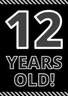Ongekend De Van De 12 Jaar Verjaardagskaarten   Zazzle.be XL-88