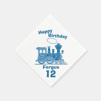 12èmes serviettes nommées d'anniversaire de serviette en papier