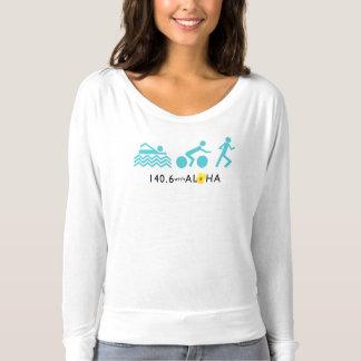 140,6 Avec Aloha le long T-shirt de douille de