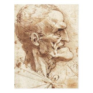 1487 1490) sont un dessin par Leonardo da Vinci Carte Postale