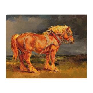 """14"""""""" art en bois de mur de peinture du cheval x11"""