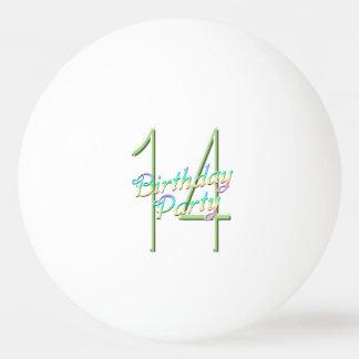 14ème Arc-en-ciel et fête d'anniversaire de Balle De Ping Pong