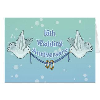 15ème Cadeaux d'anniversaire de mariage Carte De Vœux