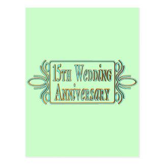 15ème Cadeaux d'anniversaire de mariage Cartes Postales
