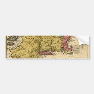 1685 carte - nouvelle Belgique, le nouveau monde, Autocollant De Voiture