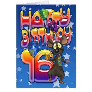 16ème Carte d'anniversaire, joyeux anniversaire