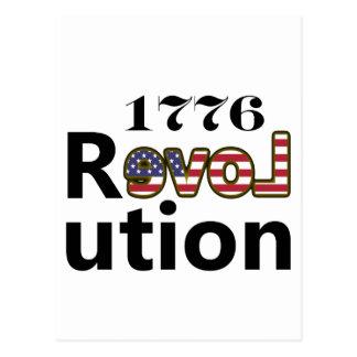 """1776 de Revolutie van de Liefde """"van de V.S."""" Briefkaart"""