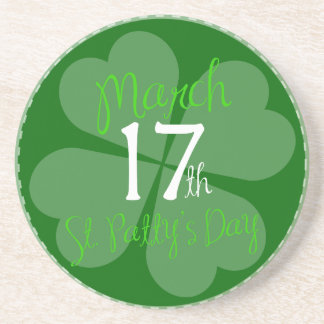 17 mars célébration de jour de St Patty Dessous De Verre