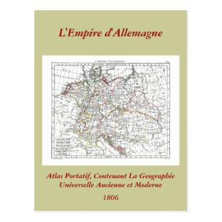 1806 carte - d'Allemagne de L'Empire