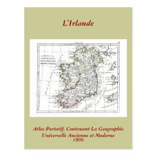 1806 carte - L'Irlande Carte Postale