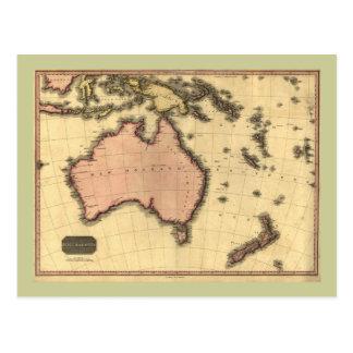 1818 carte de l'Autralasie - Australie, Nouvelle Carte Postale