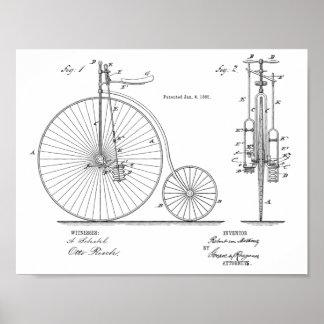 1885 hautes copies vintages d'art de brevet de
