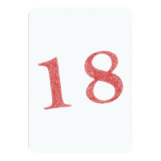 18 ans d'anniversaire carton d'invitation  12,7 cm x 17,78 cm