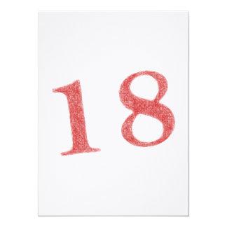18 ans d'anniversaire carton d'invitation  13,97 cm x 19,05 cm