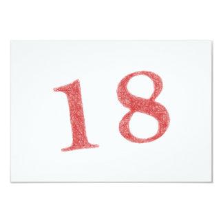 18 ans d'anniversaire carton d'invitation 8,89 cm x 12,70 cm
