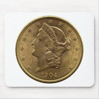 1904 avant de pièce de monnaie des vingt dollars ( tapis de souris
