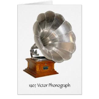 1907 phonographe de Victor, carte de voeux