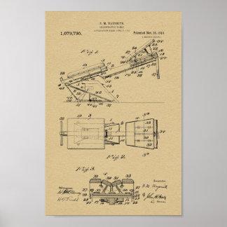 1913 copies vintages d'art de brevet de Tableau de