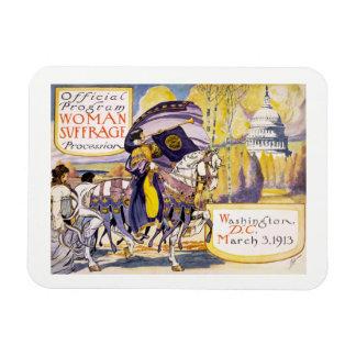 1913 Washington DC de marche de droits de la femme Magnet Rectangulaire Avec Photo