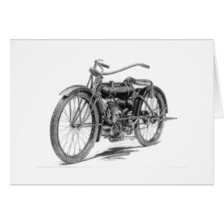 1918 motos vintages carte de vœux