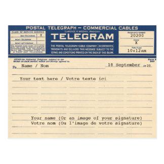 1920 Post Telegram (Postcard) Briefkaart