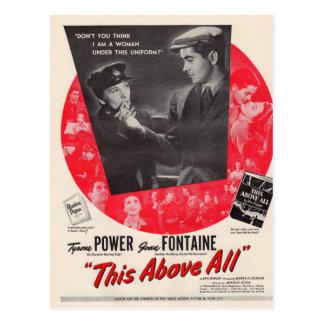 1942 Dit vooral filmposter Briefkaart