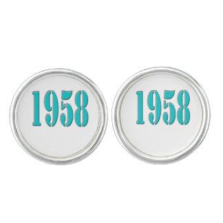 1958 boutons de manchette