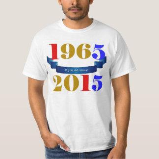 1965 - douille courte commémorative de 2015 50 t-shirt