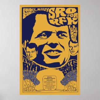 """1968 affiches psychédéliques de RFK """"de pièce"""