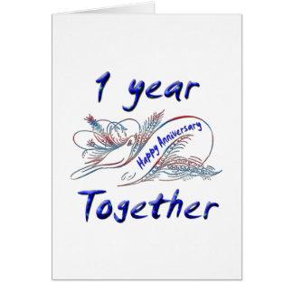 1 an ensemble carte de vœux