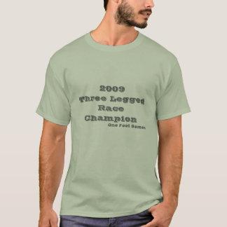 2009 trois RaceChampion à jambes, jeux d'un pied T-shirt