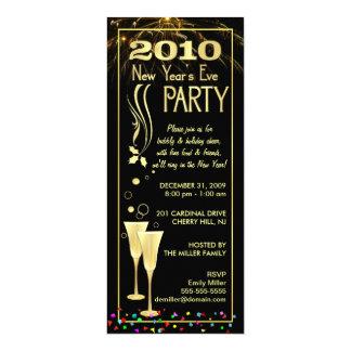 2010 invitations de partie de réveillon de la
