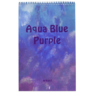 2016 de Abstracte Kunst van de Kalender Blauwe