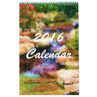 2016 Enige Pagina van de Kunst van de Tuin van de Kalender