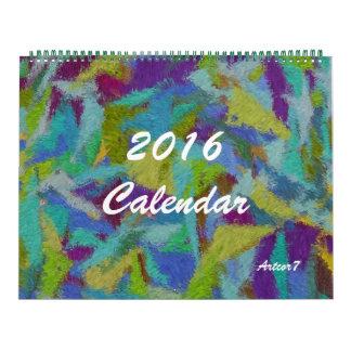 2016 Pagina Twee van de Abstracte Kunst van de Kalender