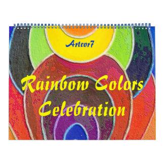 2016 Reusachtige de Viering van de Regenboog van Kalender