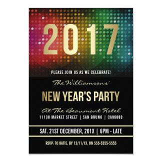 2017 nouvelle célébration de disco de la partie | carton d'invitation  12,7 cm x 17,78 cm