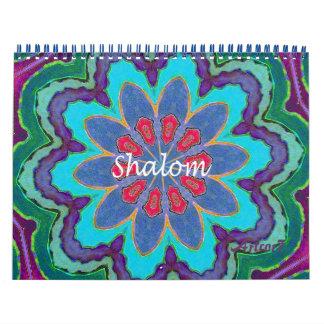 2017 Pagina 2 van Mandala van het Kant van Shalom Kalender