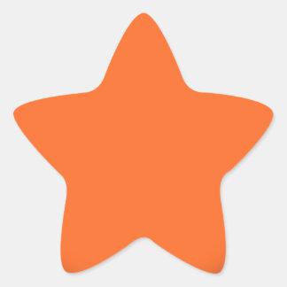 202__NEON-ORANGE-BRAD ROZE CIRKEL POLKADOT TEMPLAT STERVORMIGE STICKER