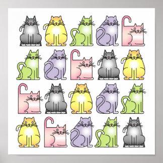 20 chats humoristiques de bande dessinée