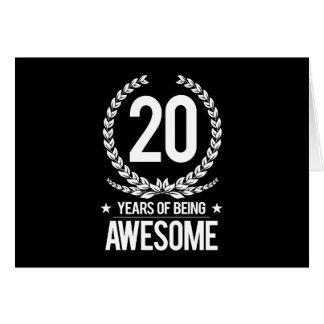 20ème Anniversaire (20 ans d'être impressionnants) Carte De Vœux