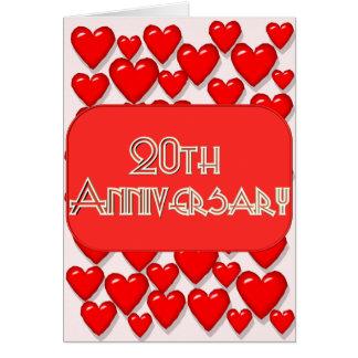 20ème Anniversaire de mariage Carte De Vœux