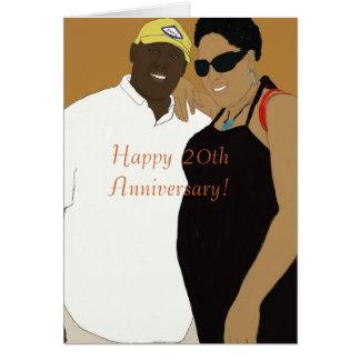 20ste huwelijksverjaardag wenskaart