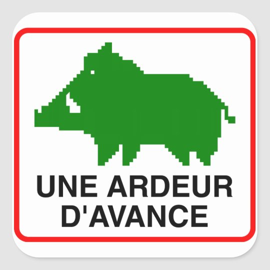 20x Small Sticker - UNE ARDEUR D'AVANCE