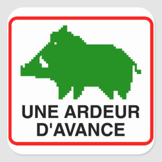 20x Small Sticker - UNE ARDEUR D'AVANCE Sticker Carré