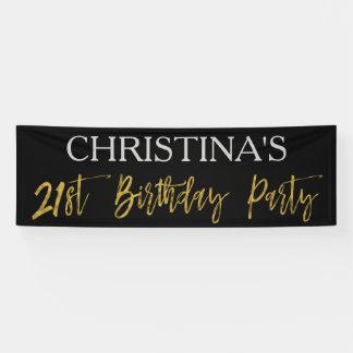 21ème Bannière de fête d'anniversaire