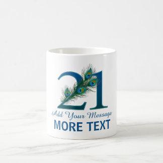 21ème tasse chique personnalisée de l'anniversaire