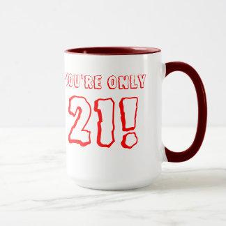 21ème Tasse d'anniversaire (rouge)